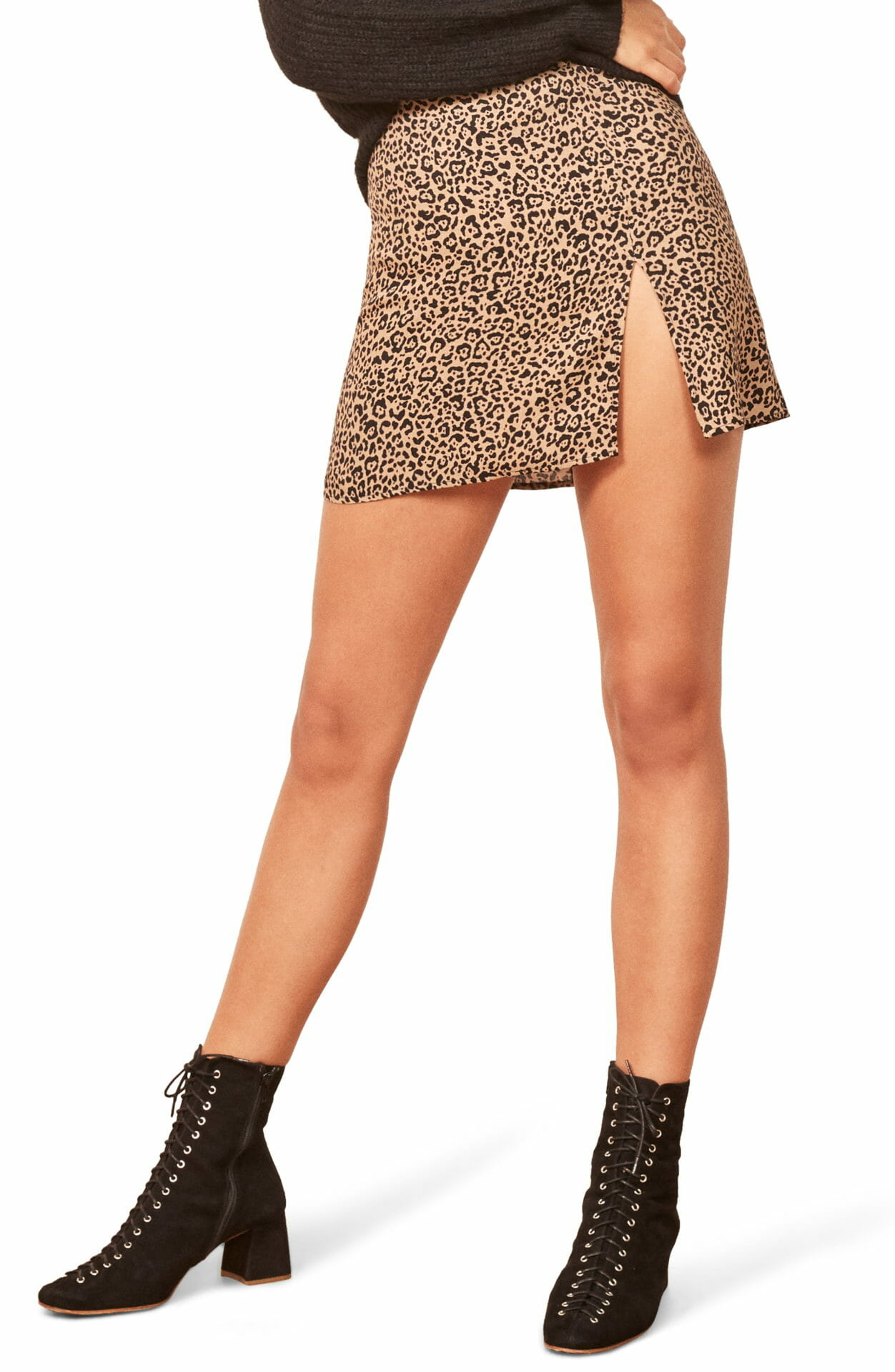 REFORMATION Margot Miniskirt, Main, color, BENGAL