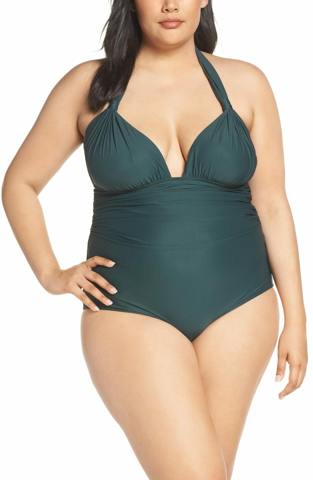LENNY NIEMEYER Adjustable Halter Maillot One-Piece Swimsuit, Main, color, ATLANTIC
