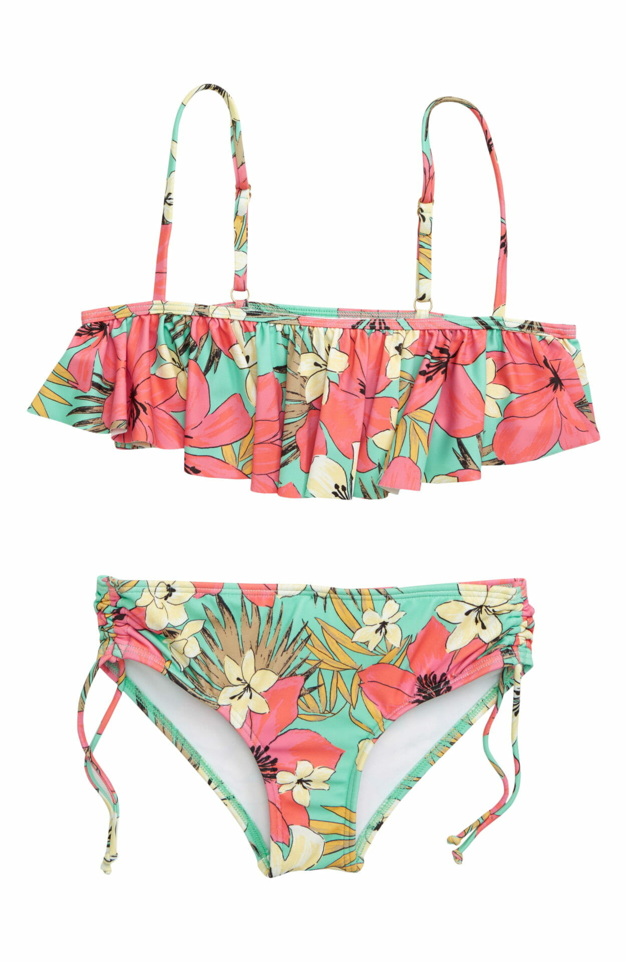 BILLABONG Aloha Sun Flutter Two-Piece Swimsuit, Main, color, MO-MINT