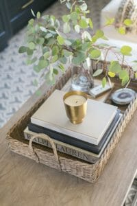 styled living room table