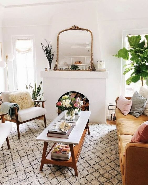 large mirror living room home decor