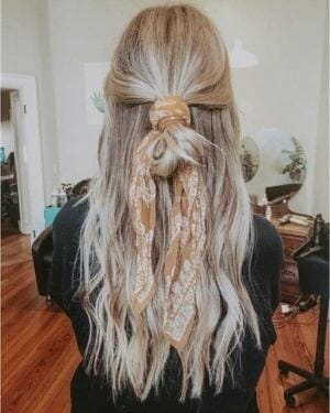 Bohemian Silk Scarf in Hair