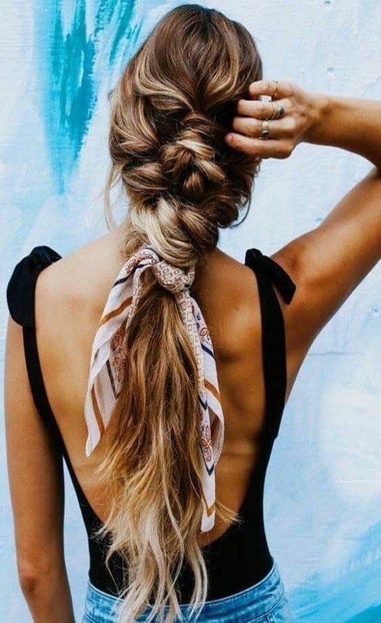 Bohemian Silk Scarf in Hair ideas