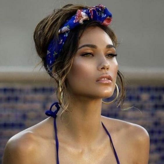 Boho Headband in Hair Hairstyle