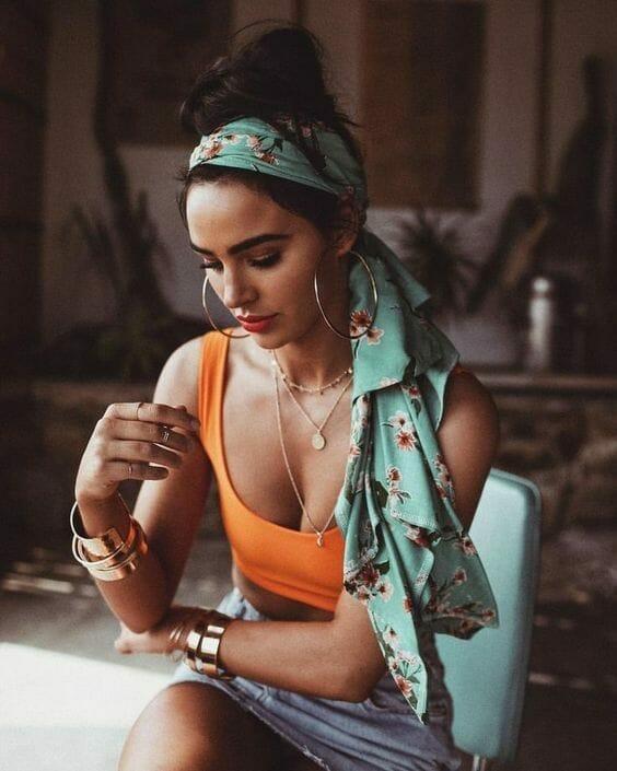 Boho Silk Scarf in Hair ideas