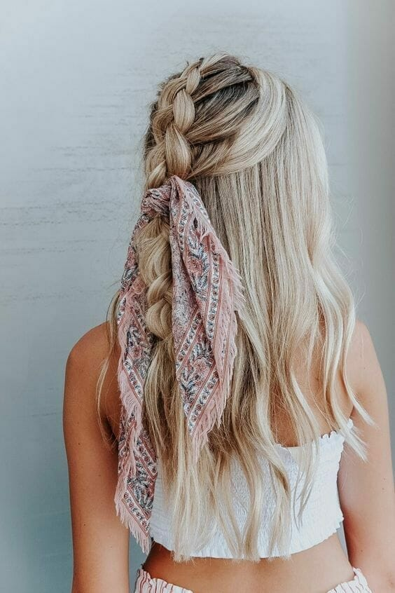 Head scarf bandana hairstyle for women