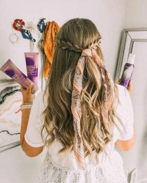 Head scarves bandanas and braids hairstyle