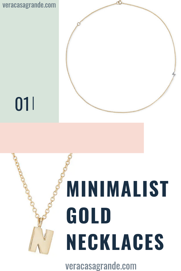 minimalist gold necklaces