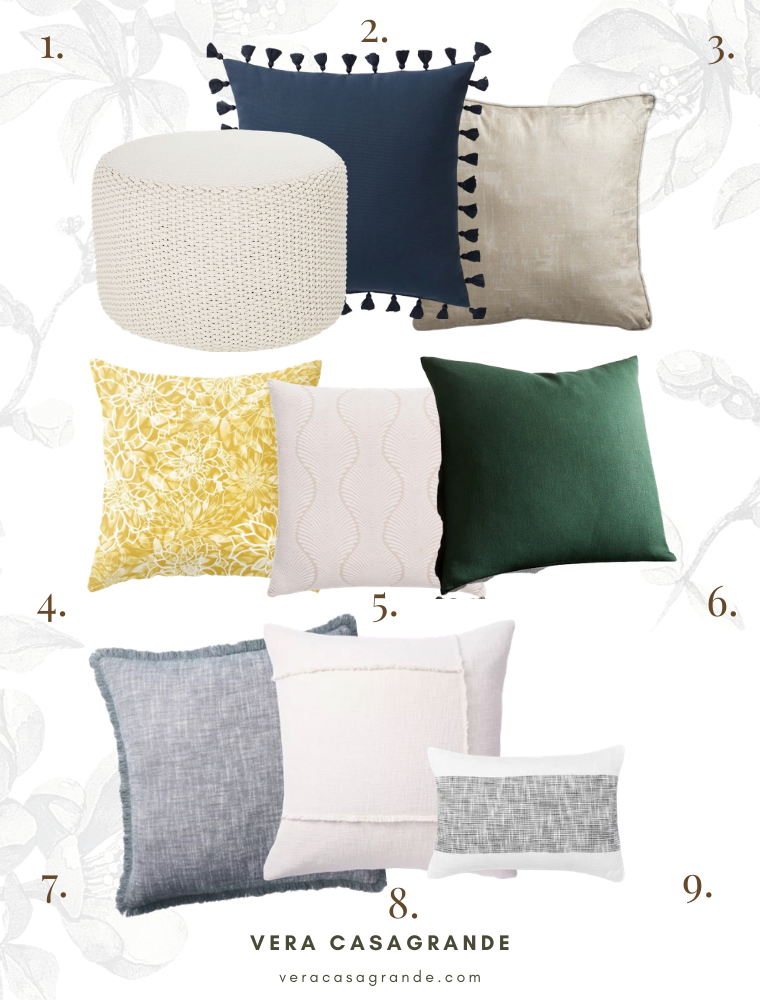 Shop decorative throw pillow pairings for the living room using this guide.