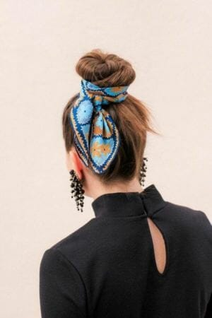 Silk Scarf in Bun Updo