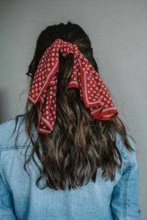 Silk scarves bandanas and braids hairstyle young.