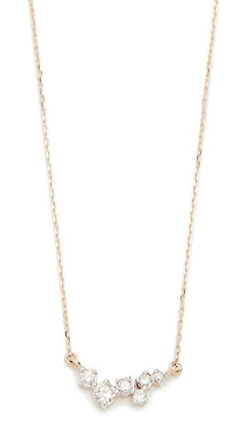 Adina Reyter 14k Gold Scattered Diamond Necklace minimalist necklaces simple necklaces gold