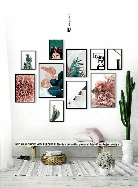 gallery walls living room home decor inspiration