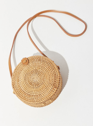 UO Rattan Mini Circle Bag