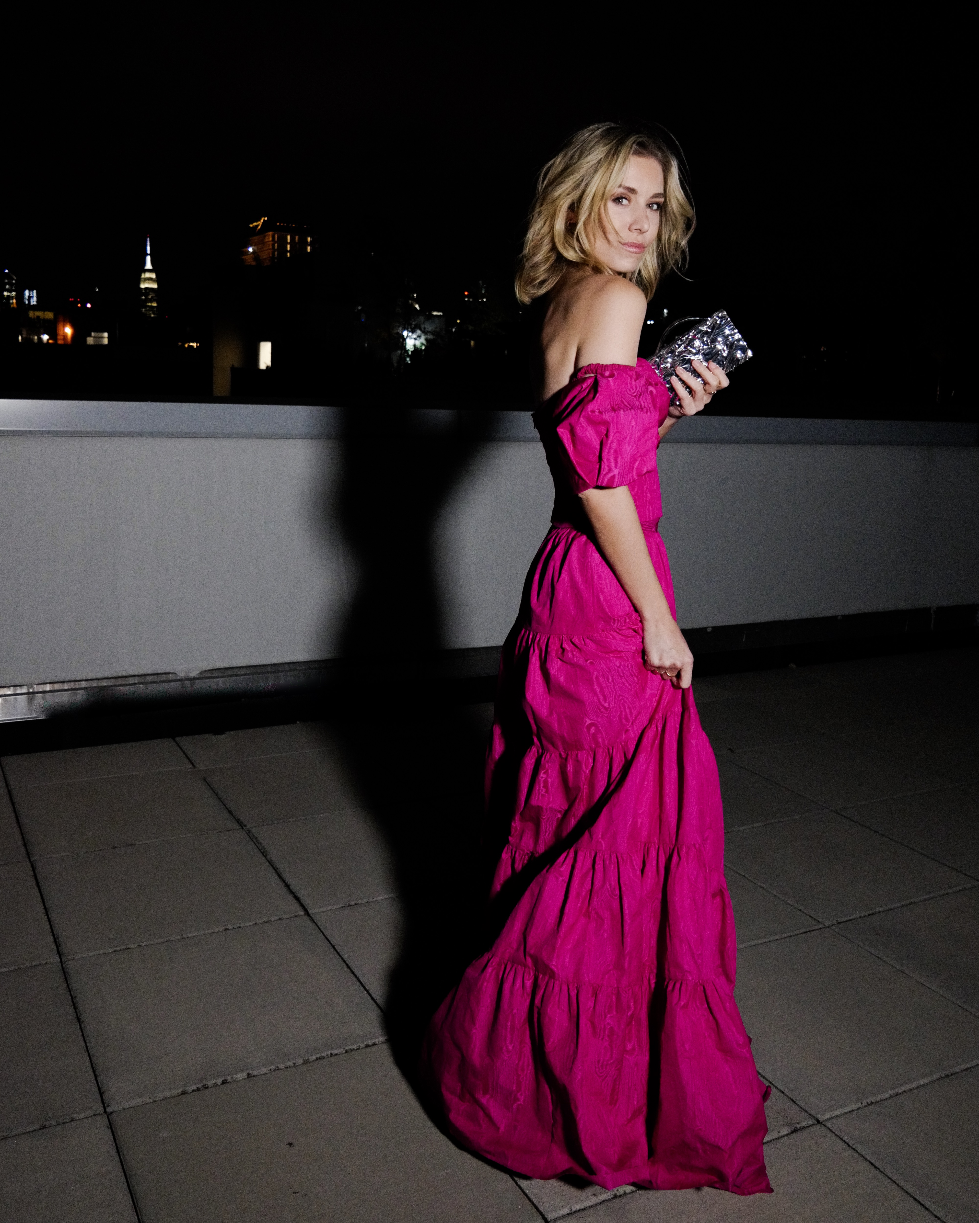 #floorlength #gown #eveninggown #longdress #weddingguest #pink #pinkdress #elegant #fuscia #nycblogger #newyork #springdress #springgown #party #event