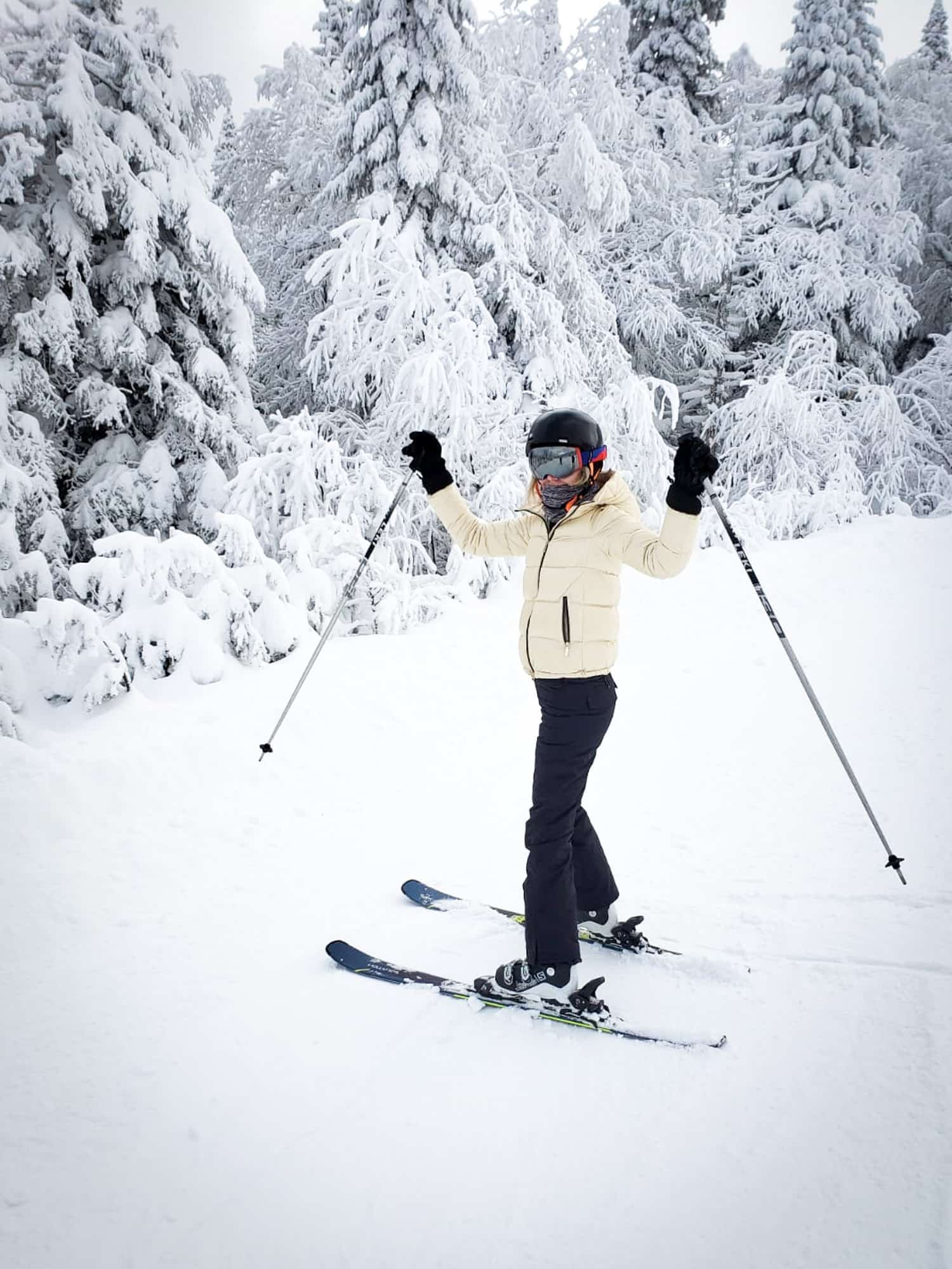 First time skiing is great in Canada because they offer so many lessons for beginners.