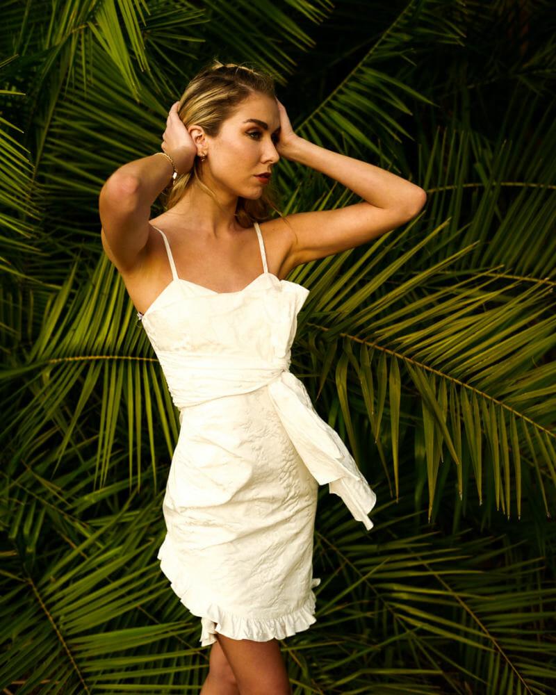 Flor Et Al Oaxaca Leopard Print Bow Dress minimalist fashion, summer outfits, summer dresses,