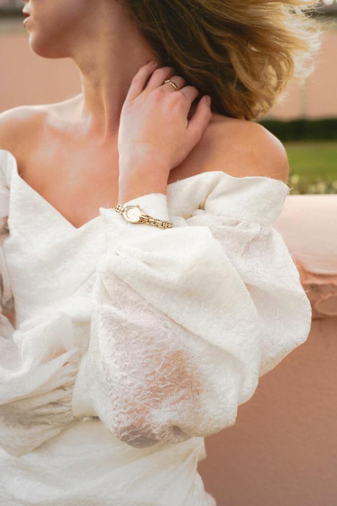 puffy sleeves ,wedding dresses with sleeves,short wedding dress,