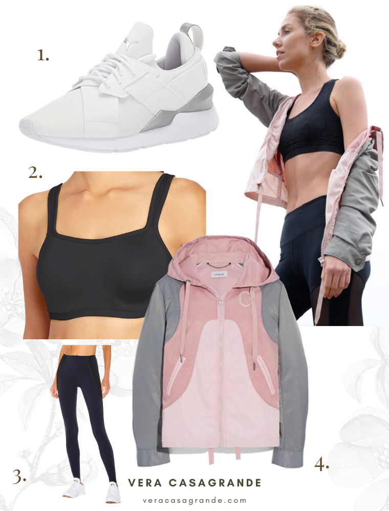 Activewear inspired looks by vera casagrande including running sneakers, yoga pants and a track jacket.