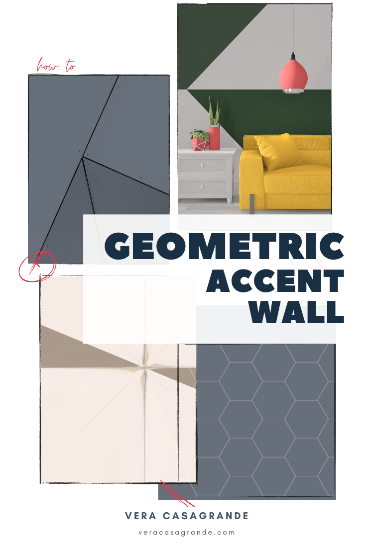 Learn how to create a geometric accent wall.