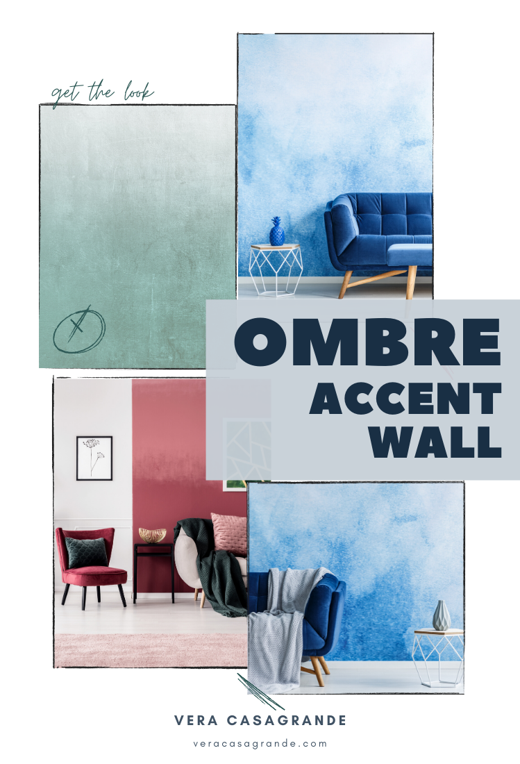 Ombre Accent Walls for living rooms.