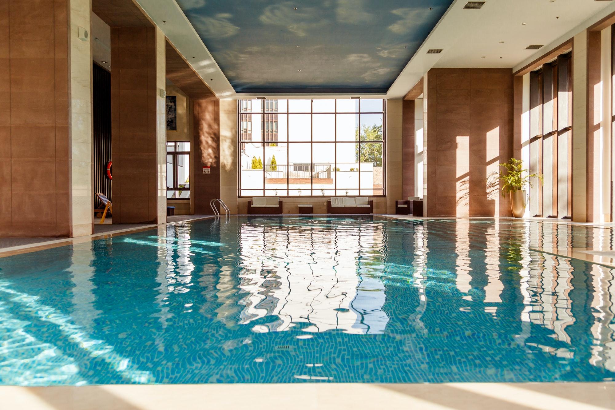 luxury wellness retreat - Indoor swimming pool interior