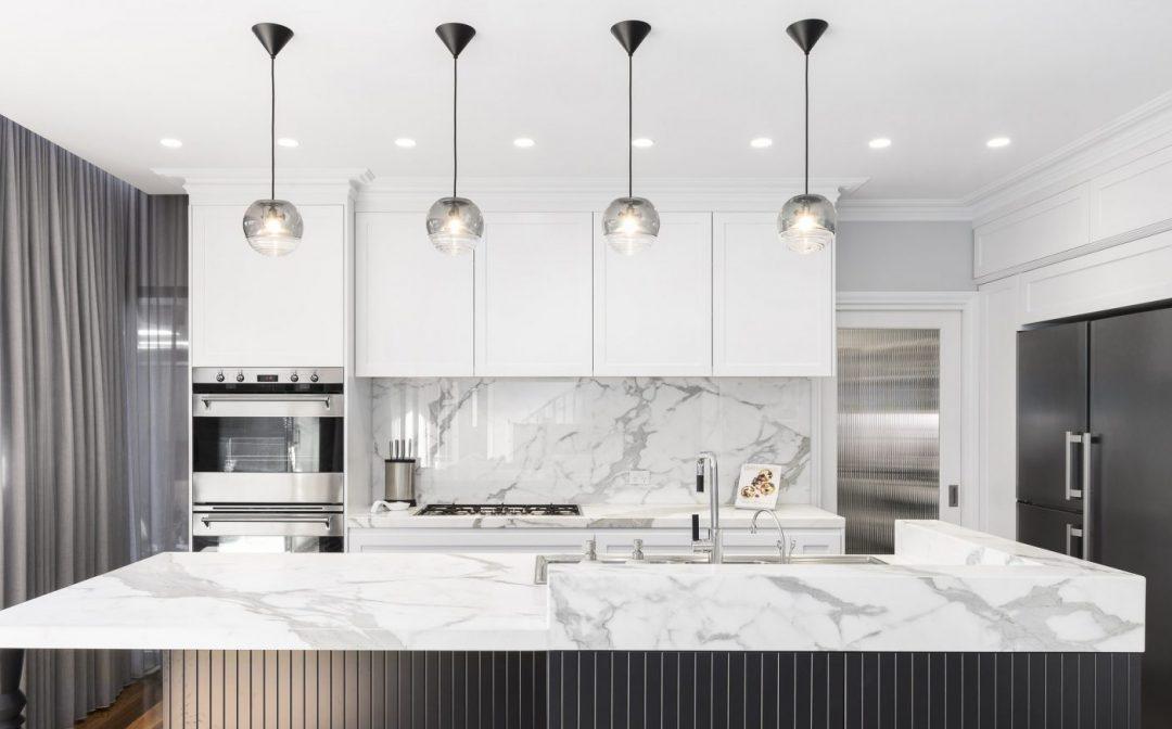 Clean Modern Kitchen : Hanging Pendant Light
