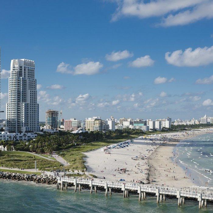 miami, beach, water